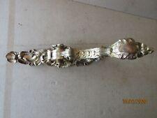 ancienne crémone de fenètre en bronze art populaire collection décoration