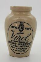 "Early 20th Century Small ""VIROL"" Stoneware Jar."