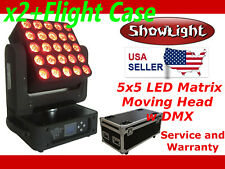 SHOWLIGHT 5x5 LED Matrix Moving Head Light + Flight Case (alt Elation ACL 360)