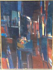 Jean Cornu (1915-2009).  hst cubiste (ami de Mouly) 130x97