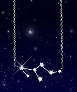 SX Collier Löwe Sternenkonstellation Sternzeichen Halskette versilbert