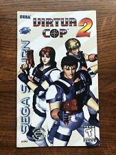 Virtua Cop 2 II Sega Saturn Game Instruction Manual Only