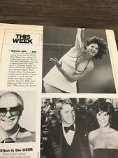 1979 VINTAGE MAGAZINE PHOTO CLIPPING SEXY TENNIS STAR LINDA SIEGEL + ALI MACGRAW