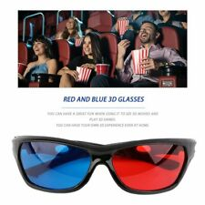 Black Frame Red Blue 3D Glasses For Dimensional Anaglyph Movie Game DVD KW