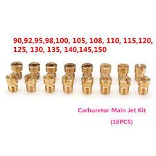 16pcs Carburetor Main Jet Kit For PWK Keihin OKO CVK 90 92 95 98 115……140 150
