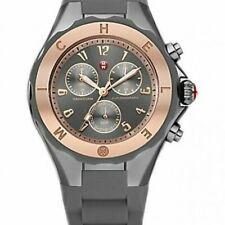 NWT In Box~Michele Tahitian Jelly Bean Rose Gold/ Gray Ladies Watch~MWW12F000064