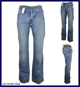 Lee jeans pantaloni da uomo a zampa svasati bootcut gamba larga larghi 44 46 48