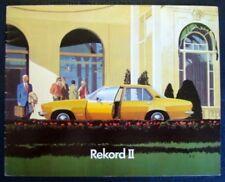 OPEL REKORD II CAR SALES BROCHURE C 1973.