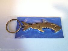 Shark Jaws Bottle Opener Chrome Keychain Bar Tool-Beer Party Gift Free S/H New