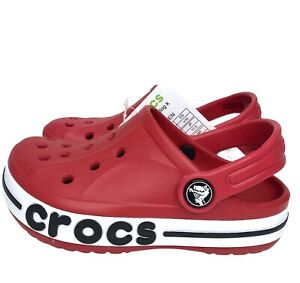 Crocs Bayaband Toddler Unisex Clog water friendly stylish comfy shoes size 9 Red