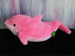 Wild Republic 40cm Cuddlekins Vibes Dolphin Plush Toy (pink)