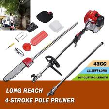 2018 upgrade Pro 43CC 2-Cycle Gas Pole Saw Pruner Chainsaw petrol Chain Saw