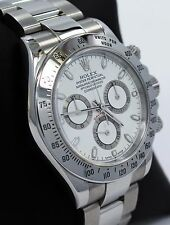 Rolex Daytona 116520 Cosmograph Steel Oyster White Dial *Mint Condition* Watch
