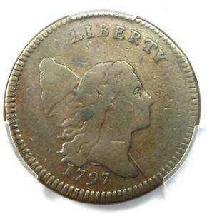 1797 Liberty Cap Flowing Hair Half Cent 1/2C with Low Head (C-3A, PE) - PCGS F15