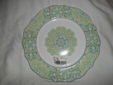 """NEW With Tag 222 FIFTH LYRIA TEAL 10 1/2"""" DINNER PLATE"""