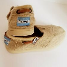 kids Toms shoes beige Size 6 toddler