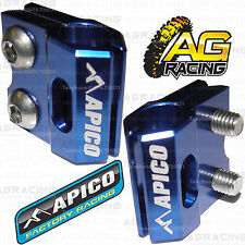 Apico Blue Brake Hose Brake Line Clamp For Yamaha WR 250R 2016 Motocross Enduro