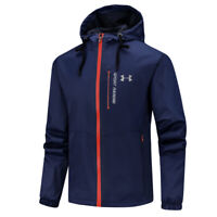 2019 Mens Under Armour Thin Hiking Quick Dry Coat Hooded Waterproof Skin Jackets