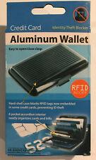 Aluminum Hard Shell Case Credit Card Wallet Black Security RFID Blocker