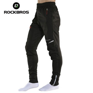 RockBros MTB Winter Cycling Sportswear Reflective Men's Thermal Fleece Trousers