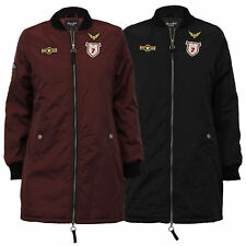 ladies padded MA1 harrington military long jacket womens coats by Brave Soul