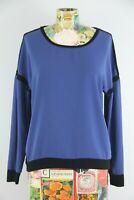 Philosophy Republic Clothing Womens Blue Black Long Sleeve Blouse Size XS