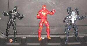 Black Panther & Iron Man & Venom Marvel Action Figures