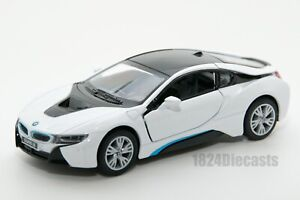 BMW i8 in white, Kinsmart KT5379, 1:36 scale, 5 inch model toy car gift