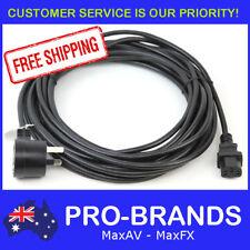 10m Piggyback IEC Plug 1.0mm Power Cable Lead Cord Jug Black Piggy Back 10-Metre