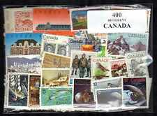 Canada 400 timbres différents oblitérés