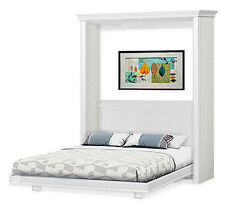 Queen Wall Murphy Bed, 4-Panel Door Style Woodworking Plans, 1QDWB