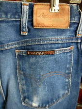 30x30 FIT Vtg 70's SEDGEFIELD RAW INDIGO DENIM HIPPIE DISCO POCKET JEANS USA