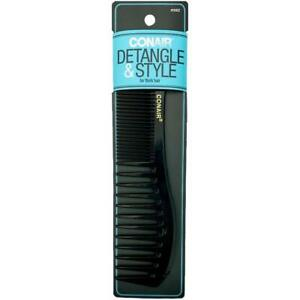Conair Detangle & Style Ideal For Thick Hair Wide Tooth Styling Essential Comb