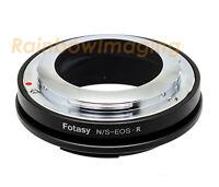 Nikon S Mount RangerFinder Lens(OUTER Bayonet) to Canon EOS R EOS R5 RP Adapter