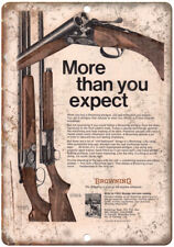 "Browning Shotguns Rifles Vintage Ad 10"" x 7"" Reproduction Metal Sign"