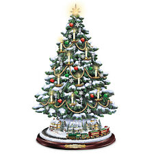 Thomas Kinkade Tabletop Tree With Lights, Motion And Music