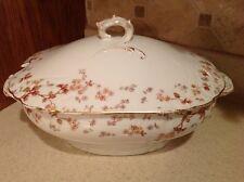 Antique Limoges Haviland C. H. Field Tureen Serving Bowl W/Lid Foral Design NICE