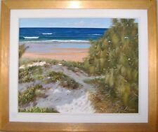 Australian Artist Hal Barton's original oil titled 'Castaways Beach'.