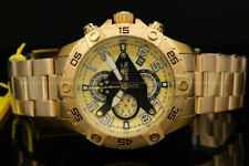 NEW Invicta Men's 48MM S1 Rally 18 Karat Gold Plated Chrono S.S Bracelet Watch