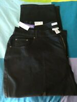 NWT Catherines Right Fit Curvy Black Jeans Plus 24WP 3x/4x