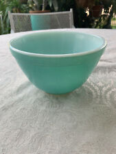 Vintage Pyrex #401 Primary Color Blue Turquoise Small Nesting Mixing Bowl 1.5 Pt