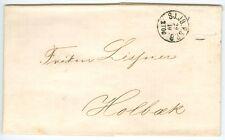 Denmark: Unpaid letter Copenhagen to Holbaek 1861.