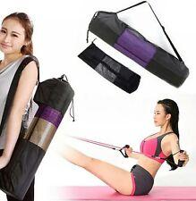yoga mat bag tote strap carrier pocket cotton new shoulder adjustable large blac