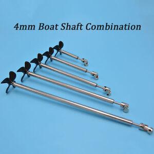 Model Boat Stainless steel 4mm Ship Shaft Drive Shaft 4 Blades Propeller D50mm