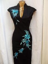 Oriental Noir Turquoise Fashion Chinese Dress 20 22