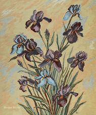 WALL JACQUARD WOVEN TAPESTRY Iris Flowers EUROPEAN FLORAL CONTEMPORARY DECOR