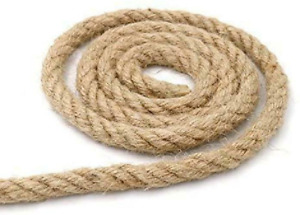 32 Feet 100% Natural Thick Jute Hemp Rope 10MM Strong String Craft Twine For DIY