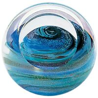 Glass Eye Studio celestial series paperweight Uranus 484F - Brand New
