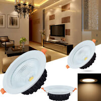 Dimmable COB LED Recessed Ceiling Downlight 10W Spot Light Indoor Lamp Kits