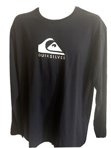 Quiksilver Men's Solid Streak Ls Long Sleeve Color Navy Free Shipping
